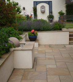 Contemporary Mediterranean Garden After The Project