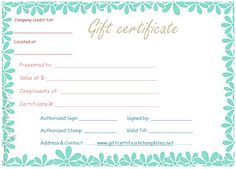 Gym gift certificate template giftcard giftvoucher for Gym gift certificate template