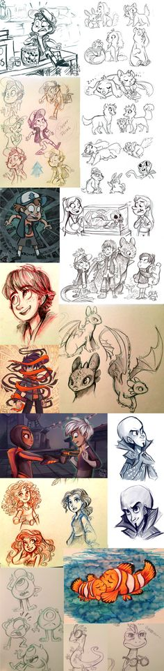 Stuff 6 by sharpie91.deviantart.com on @deviantART She needs to work for Disney. And Dreamworks.