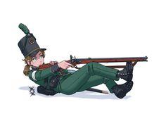Anime Military, Military Girl, Fantasy Comics, Anime Fantasy, Anime Uniform, World Population, Girls Frontline, Troops, Location History