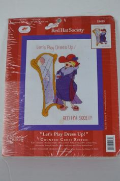 #Candamar #Designs #51485 #Let'sPlayDressUp #RED #HAT#Socety #Counted #Cross #Stitch #Kit #CandamarDesigns