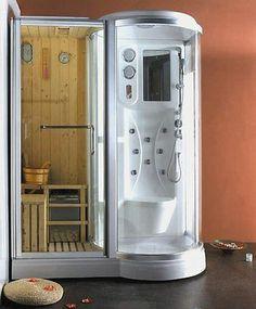 Box Doccia Idromassaggio 168x95 reversibile con Sauna Finlandese cromoterapia   eBay