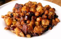 """hogymegtudjuknézni: Csicseriborsó-krumpli """"egytál"""" Kung Pao Chicken, Healthy Life, Clean Eating, Potatoes, Meat, Vegetables, Ethnic Recipes, Food, Drink"""