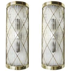 Neoclassical Brass/Glass Sconces | From a unique collection of antique and modern wall lights and sconces at http://www.1stdibs.com/furniture/lighting/sconces-wall-lights/