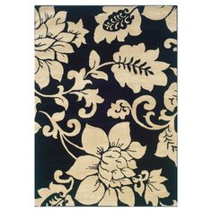 Oriental Weavers Camden Area Rug - This Black/Ivory rug would make a wonderful addition to any home. Learn why others decide to buy from RugStudio City Rugs, By Any Means Necessary, Floral Area Rugs, My Living Room, Living Spaces, My New Room, Woven Rug, The Fresh, Colorful Rugs