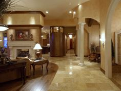Entry way view at Casa Cielo.  We worked on this home with Tara Custom Homes. #USFloorsDirect #Amazing #CasaCielo