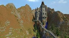 Image result for minecraft mountain castle ideas