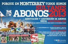 Ya puedes pasar a oficinas del Estadio de Béisbol Monterrey (Palacio Sultan) a adquirir y renovar tu abono...