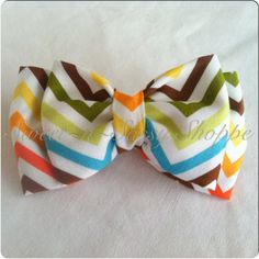 Colorful Chevron Pretied BowTie Will fit by sweetnsassyshoppe, $11.99