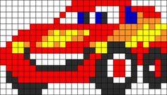 Lightning Mcqueen Perler Bead Pattern | Bead Sprites | Characters Fuse Bead Patterns