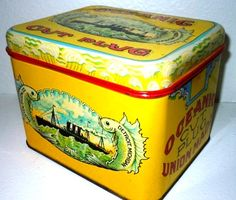 Vintage Oceania cut plug tobacco tin