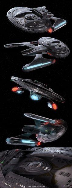 Luna Class by Nave Enterprise, Star Trek Enterprise, Start Trek, Nave Star Wars, Star Trek Online, Starfleet Ships, Starship Concept, Star Trek Images, Star Trek Series