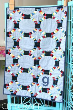 Baby George Quilt   Robert Kaufman Modern Quilts Fabric   CityCraft