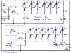 Flashing led unit circuit diagram