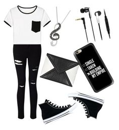 """""""Untitled #40"""" by akshaya-mahaveer on Polyvore featuring Miss Selfridge, Converse, McQ by Alexander McQueen, Sennheiser and Casetify"""