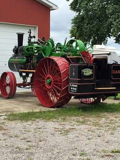 CASE Steam Tractor, Red Tractor, Antique Tractors, Vintage Tractors, Case Ih Tractors, Classic Tractor, Power Cars, Down On The Farm, Small Farm