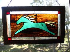 Spirit Horse stained glass window. $125.00, via Etsy.