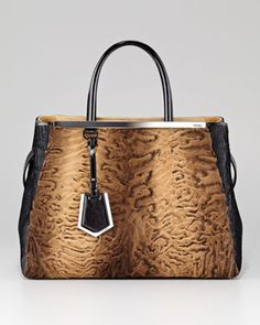 I swear I'll never ask for anything else. This is art. 2Jours Astrakhan Tote Bag by Fendi at Bergdorf Goodman.