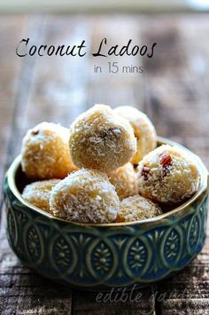Coconut ladoo recipe, quick and easy ladoo recipe using condensed milk and desiccated coconut. Step by step pictures and instructions.