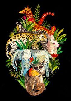 Juxtapoz Magazine - Things that Fit inside a Heart Illustration Arte, Ghost In The Machine, Anatomical Heart, Anatomy Art, Inspiration Art, Arte Pop, Heart Art, All Art, Wallpaper