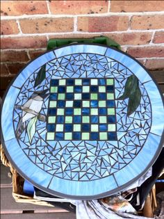 Made this mosaic chess table for a quite game out under the gum trees. 2013