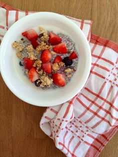 Chia Seed Breakfast Pudding - Vegan by A Little Rosemary and Time