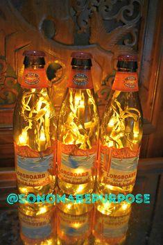 Kona Brewing Beer Bottle Light Longboard Island Lager 3 Pack White lights Bar Light, Kona Brewing Lamp, Kona Brewing Light, Kona Big Island Kona Brewing, Brewing Beer, Lager Beer, Beer Bottle Lights, Sonoma County California, Tiki Decor, Black Vase, Brewing Company, Big Island