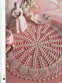 "Photo from album """"Decorative crochet"" on Yandex. Crochet Mandala Pattern, Crochet Doilies, Crochet Hats, Decorative Napkins, Oblong Tablecloth, Crochet Magazine, Knitting Charts, Album, Diy And Crafts"