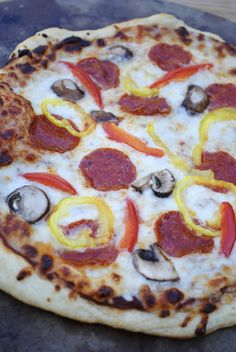 Easy and delicious homemade pizza. Restaurant quality pizza, made at home for a fraction of the cost.