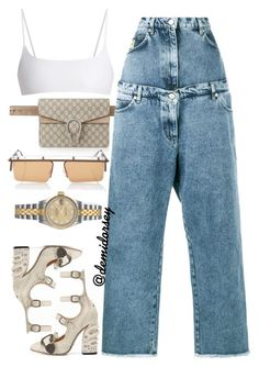 """""""Untitled #194"""" by thedemidorsey ❤ liked on Polyvore featuring Jade Swim, Gucci, Natasha Zinko and Rolex"""