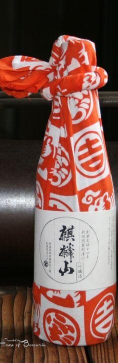 ~Japanese New Year's Sake Bottle (Furoshiki Wrapping)   House of Beccaria