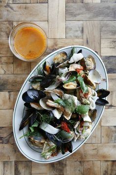 Seafood Dish from Rosemary's, New York City -  foodiedelicious.com  #Seafood #Seafooddishes