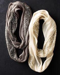 Sequin infinity loop scarf