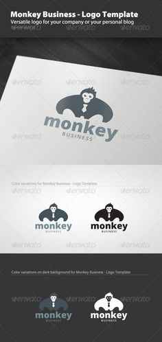 Monkey Business  Logo Template — Vector EPS #creative #business • Available here → https://graphicriver.net/item/monkey-business-logo-template/1526344?ref=pxcr