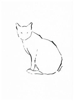 """The most poor cat is a masterpiece""...    (Leonardo da Vinci Quote) ^^^^  Interesting simple, minimalistic ink drawing with a soul for cat lovers. Project for kids and not only..."