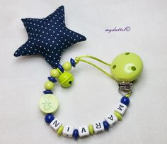 Dummy Chain Soother Keeper nuckelkette Teething Necklace with name Natural-wood