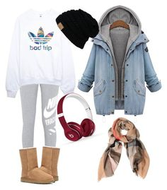 """""""My fall outfit"""" by amanda-warintara on Polyvore featuring NIKE, adidas, UGG Australia, Beats by Dr. Dre and Burberry"""
