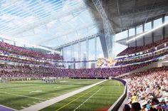 Inside of proposed Minnesota Vikings stadium.