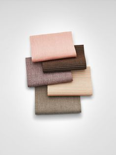 A colour range of the textile Tokyo in soft, warm hues.