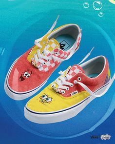 Spongebob x Vans Vans Slip On, Rubber Shoes, Spongebob, Bmx, Vans Shoes, Skateboard, The Help, Sneakers, Skateboarding
