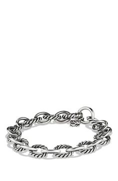 Free shipping and returns on David Yurman 'Oval' Link Bracelet at Nordstrom.com. Sterling silver. 10mm wide. Lobster clasp. By David Yurman; imported. $295