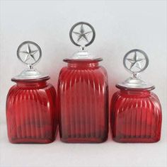 Drake Design Mediterranean Glass Kitchen Canisters Food Safe For The Home Pinterest