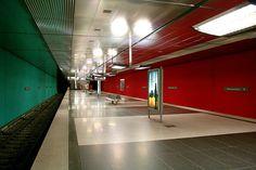 Subway station in Munich, Germany.