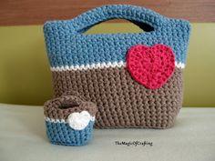 Frozen Inspired Bag. Free crochet pattern.