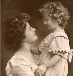 Vintage Images of Mothers and Daughters