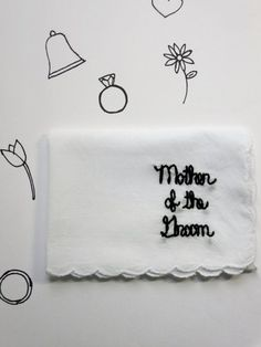 Mother of the Bride Gift Wedding Handkerchief Mother of the Bride Keepsake Handkerchief