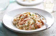 Leftover Salmon and fennel risotto