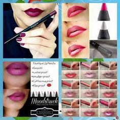 More info on lip liners :) the top right is ombre lips
