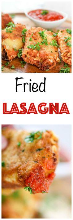 Lasagna Fritta aka Deep Fried Lasagna