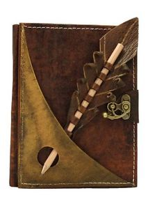Pencil Holding Section on A Leather Bound Journal Notebook Diary Sketchbook   eBay
